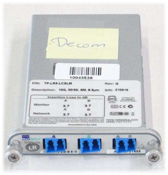 NetOptics Splitter Tap TP-LR5-LCSLM 10G 50/50 SM 8,5um 3,7dB