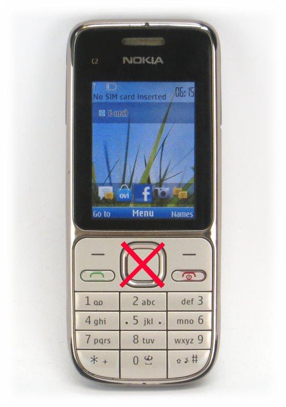 nokia c2 01 smartphone ohne akku ladeger t c ware home taste fehlt handy pda 10036631. Black Bedroom Furniture Sets. Home Design Ideas