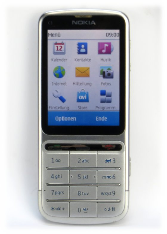 Nokia C3-01 touch and type SIMlock-frei Smartphone ohne Akku (Touchscreen defekt)