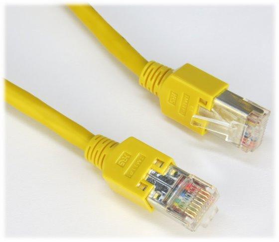Patchkabel CAT5e NEU/NEW 2m gelb Gigabit Ethernet Kabel Cable
