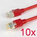 10x Ecolan Patchkabel CAT5e NEU/NEW 3m rot Gigabit Ethernet Kabel Cable