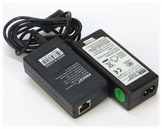 Procet PT-PSE108G PoE Injektor Power over Ethernet Gigabit GbE 802.3af 1x Port NEU