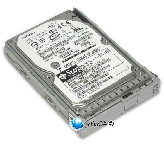 "2,5"" SUN 146GB SAS 540-7151-01 10K 16MB Tray SunFire X4200/X4100 M2 T2000 HUC101414CSS300"