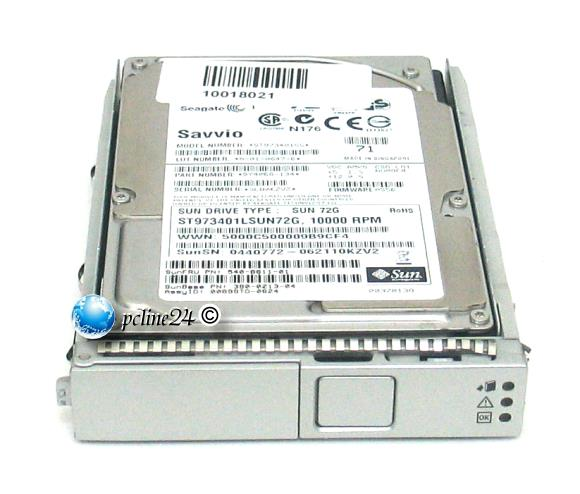 "2,5"" SUN 72GB SAS MAY2073RC 10K im Tray SUNFire X4100/X4200 M2 T2000 540-7296-01"