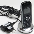 Siemens Gigaset SL3 Prof DECT Telefon Mobilteil mit Ladeschale