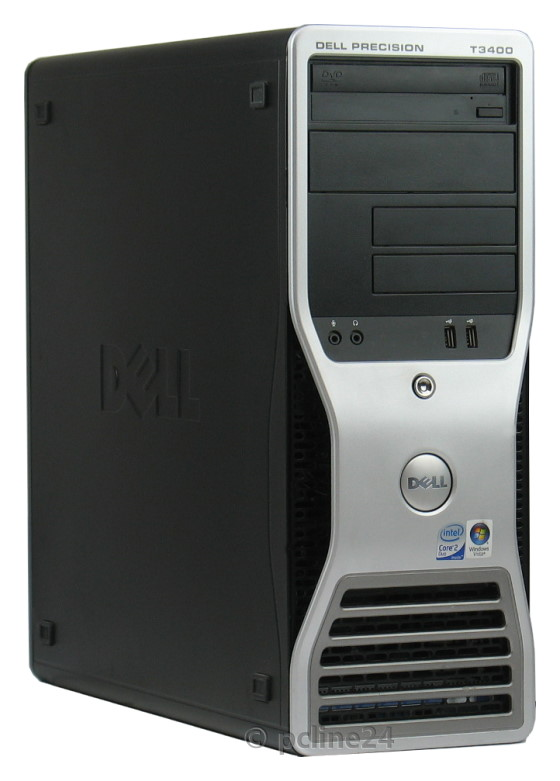 Dell Precision T3400 Core 2 Quad Q6600 @ 2,4GHz 4GB 250GB DVD±RW FX570 RAID