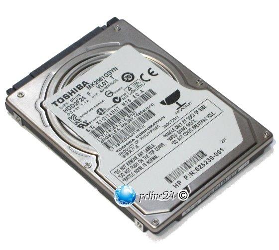 "2,5"" Toshiba MK2561GSYN 250GB SATA II 3Gbps 16MB 7.200 rpm HDD Festplatte"