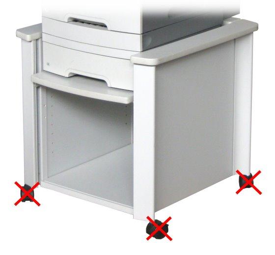 Lexmark Untergestell für X646 X644 X640 T644 T642 T640 ohne Rollen/Rollräder