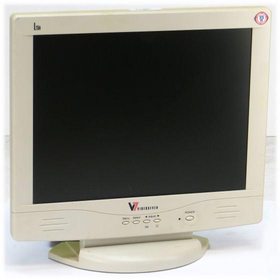 """15"""" TF LCD V7 L15R 1024 x 768 D-Sub Monitor vergilbt"""