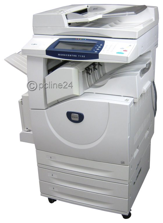 xerox workcentre 7132 din a3 farb kopierer drucker scanner adf duplex all in one ger te 10028836. Black Bedroom Furniture Sets. Home Design Ideas
