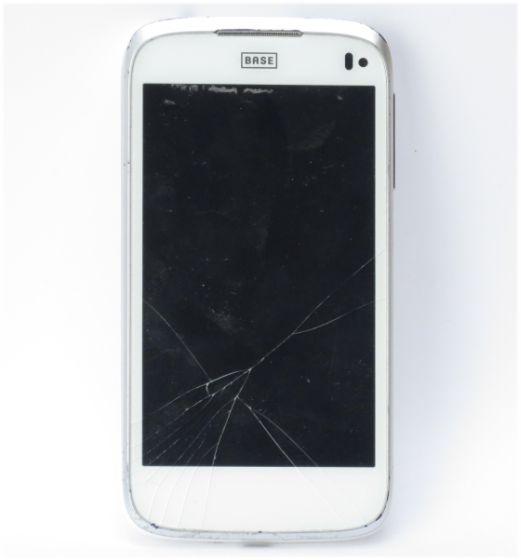 ZTE BASE Lutea 3 weiß Android Smartphone Glasbruch C-Ware (ohne Ladekabel)