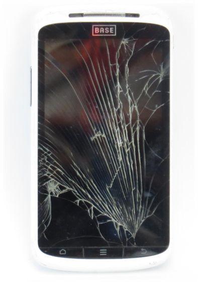 ZTE BASE Lutea 2 Android Smartphone C-Ware Glasbruch weiß (ohne Netzteil)