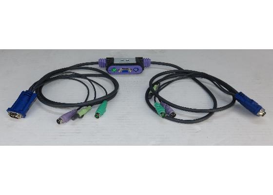 Aten CS-62A 2-Port KVM-Switch PS/2 mit Audio