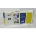 Original HP C4823A Printhead & Cleaner Nr.80 gelb/yellow für Designjet