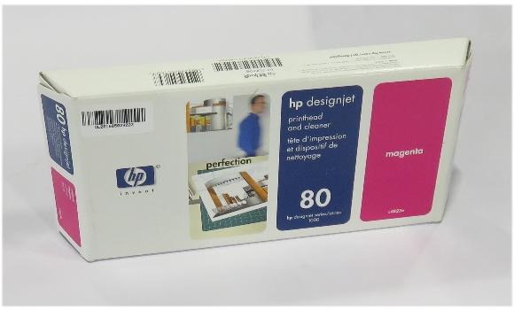 original HP C4822A Printhead & Cleaner Nr.80 OVP geöffnet