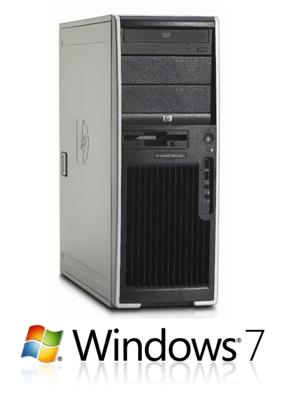 HP xw4400 Workstation Dual Core E6700 2,66GHz 4GB 250GB DVD Dual Head Windows 7