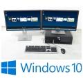 "Komplett PC System Lenovo C20 2x Quad Xeon + 2x 24"" Dell TFT P2412H + Win 10 Pro x64"