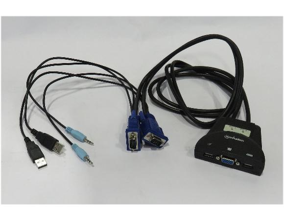 Manhattan 151245 2 Port KVM Switch USB mit Audio-Unterstützung