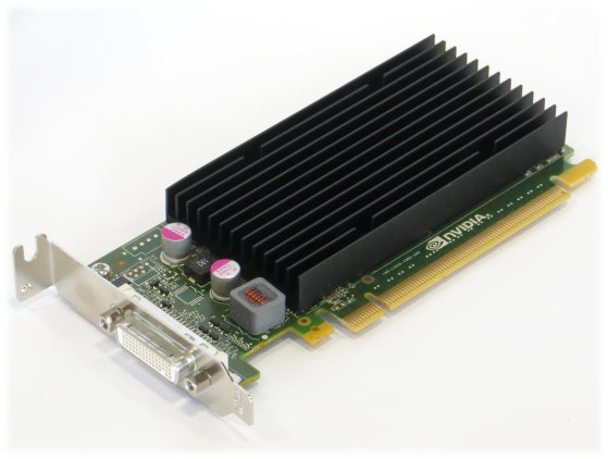 nVIDIA Quadro NVS 300 512MB PCIe x16 passive Kühlung silent Grafikkarte low Profile