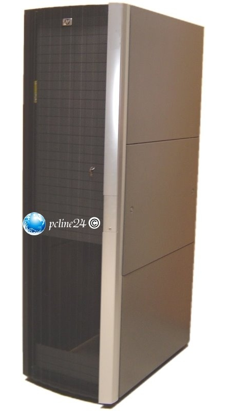 """19"""" HP Rack 10642 G2 Serverschrank 42HE mit 8x Steckerleisten á 7 Anschlüsse"""