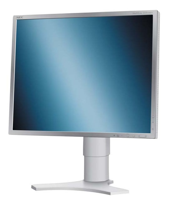 "19"" LCD TFT NEC MultiSync LCD1990FX 800:1 VGA DVI Pivot silber-beige B- Ware"