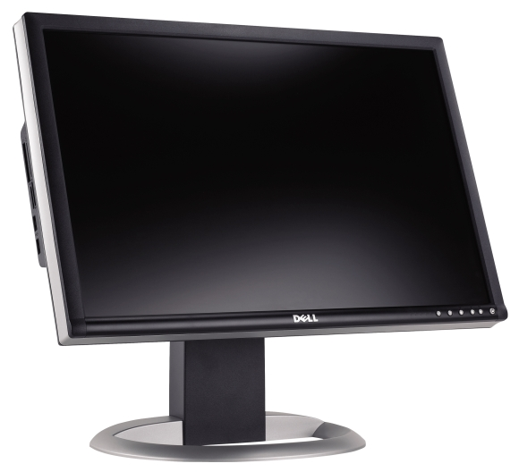"""24"""" LCD DELL 2405FPW 12ms Full HDTV Cardreader"""