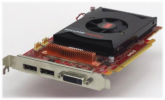 AMD ATI FirePro W5000 2GB DDR5 PCIe x16 3.0 1x DVI-I 2x DisplayPort Grafikkarte