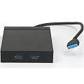 """ASUS 3,5"""" Front Panel 2x USB 3.0 mit 19-pin Buchse für Mainboard Anschluss"""