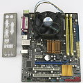 ASUS P5QPL-AM Mainboard + CPU Dual Core E5500 2x 2,8GHz mit Kühler/Lüfter/Blende