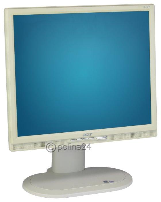 """19"""" TFT LCD Acer AL1917 J Pivot 1280 x 1024 Monitor mit Lautsprecher vergilbt"""