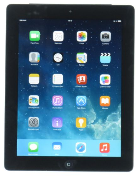 Apple iPad 2.Generation 16GB 3G + WiFi Tablet PC schwarz-silber