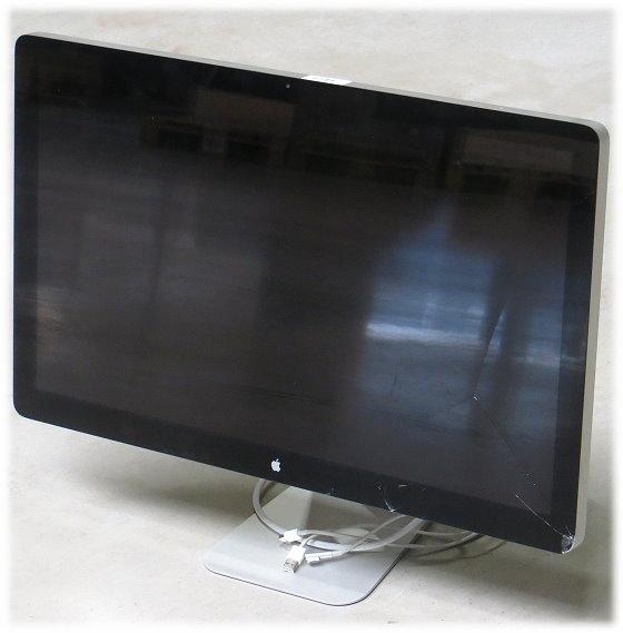 """27"""" Apple LED Cinema HD Display 2560 x 1440 Webcam A1316 Glasbruch C-Ware"""