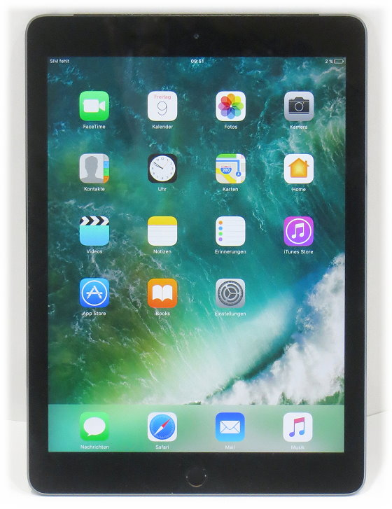 "Apple iPad Air 2 WLAN WiFi only 128GB Tablet PC 9,7"" schwarz-silber leichte Kratzer am Display"
