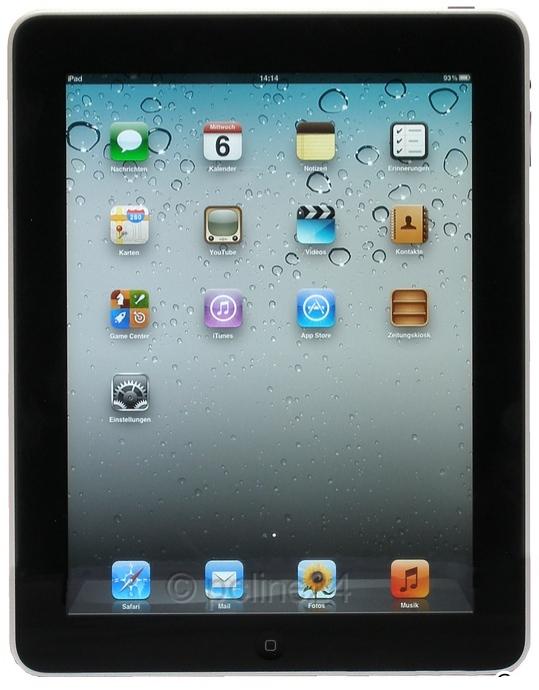 """Apple iPad 1.Gen 16GB nur WLAN schwarz-silber 9,7"""" Tablet-PC ohne Ladegerät"""