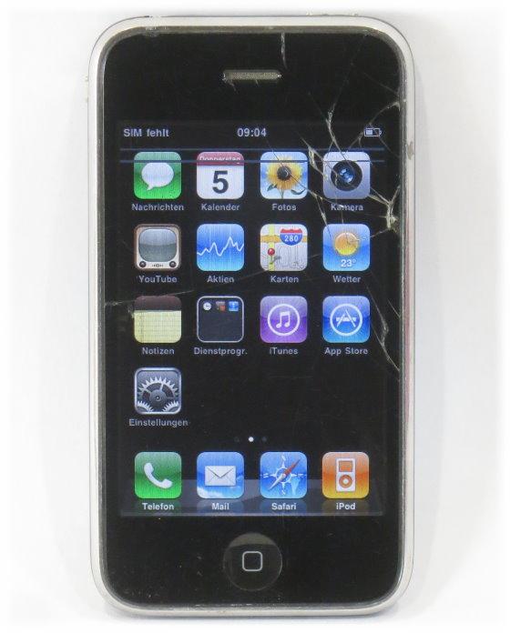 apple iphone 3g 16gb black smartphone vidrio rotura c. Black Bedroom Furniture Sets. Home Design Ideas