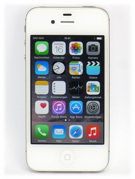 Apple iPhone 4S weiß 32GB ohne SimLock B- Ware ohne Ladegerät