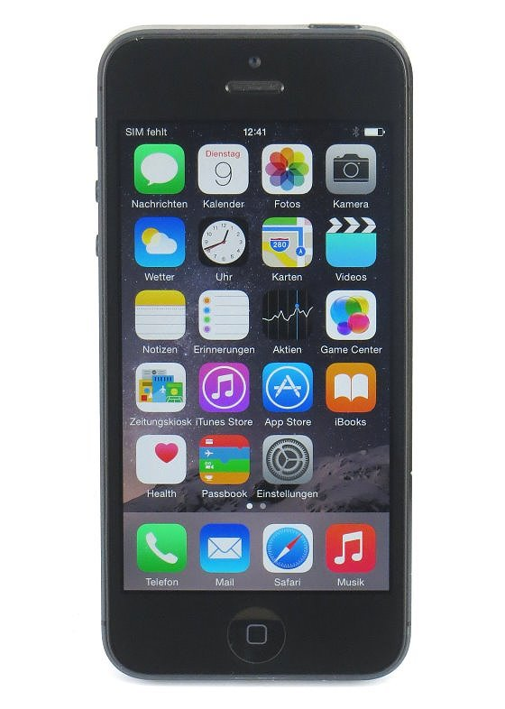 Apple iPhone 5 schwarz 16GB Smartphone SIMlock-frei B-Ware