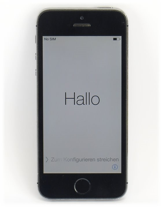 Apple iPhone SE Apple ID gesperrt / iCloud-Sperre 16GB schwarz-silber ohne Ladegerät