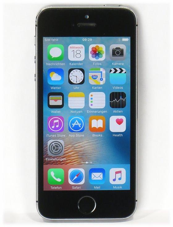 Apple iPhone 5s 16GB (Powerknopf hängt) schwarz Smartphone ohne SIMlock
