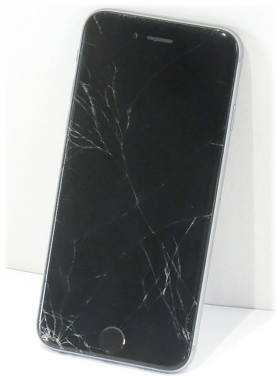 apple iphone 6 schwarz 16gb smartphone defekt keine funktion glasbruch f r bastler 10045369. Black Bedroom Furniture Sets. Home Design Ideas