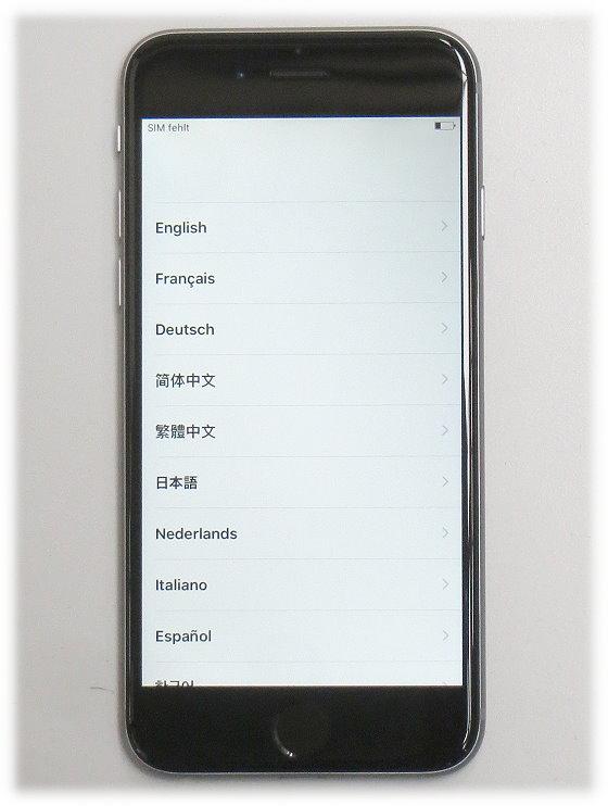 "Apple iPhone 6 schwarz 128GB Smartphone 4,7"" ohne Ladegerät (Apple-ID gesperrt)"