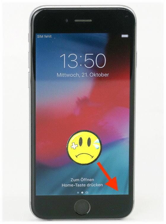 Apple iPhone 6 B- Ware Glasbruch Kratzer 64GB schwarz Smartphone ohne Ladegerät