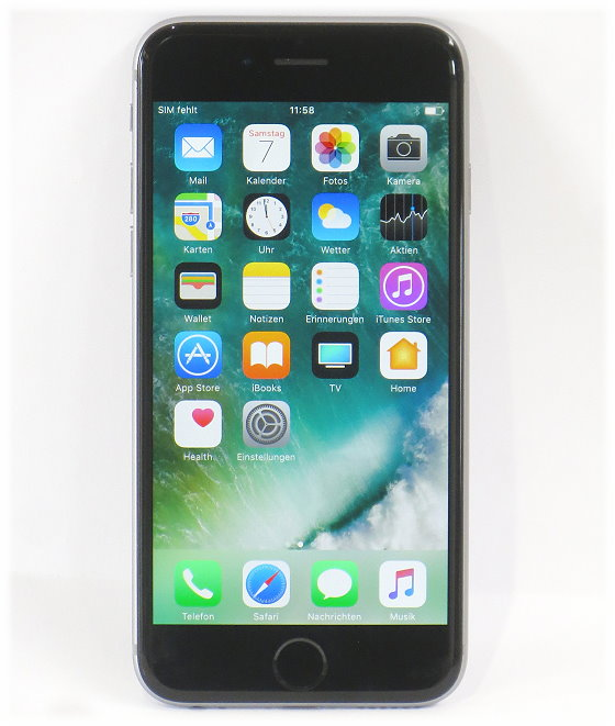 apple iphone 6 schwarz silber 64gb smartphone simlock frei. Black Bedroom Furniture Sets. Home Design Ideas