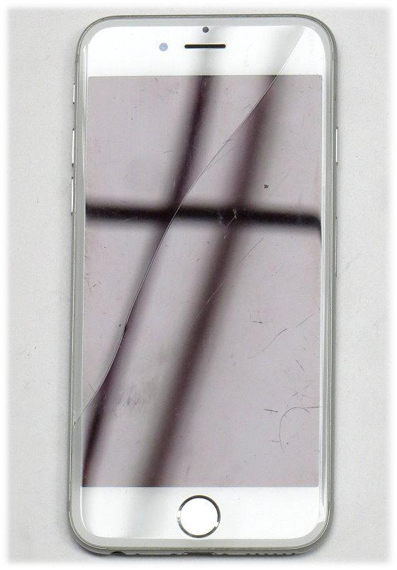 "Apple iPhone 6 weiß-silber 128GB Smartphone 4,7"" ohne Ladegerät Glasbruch iCloud Sperre"