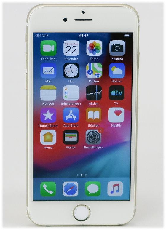 """Apple iPhone 6 B-Ware Kratzer 64GB weiß-gold Smartphone 4,7"""" ohne Ladergerät"""