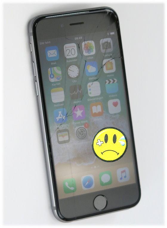 apple iphone 6s schwarz silber 64gb ohne simlock 4 7 glasbruch c ware handy telefonie 10048903. Black Bedroom Furniture Sets. Home Design Ideas