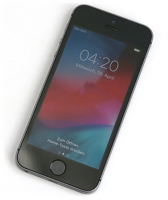 "Apple iPhone SE 16GB schwarz-silber 4"" Retina Smartphone ohne SIMlock"