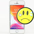 """Apple iPhone SE C- Ware Glasbruch 32GB weiß-silber 4"""" Smartphone ohne Ladegerät"""