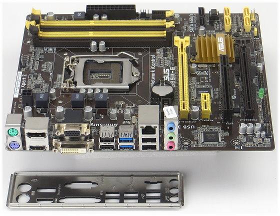 ASUS B85M-E Mainboard mATX Sockel FCLGA1150 bis zu Core i7