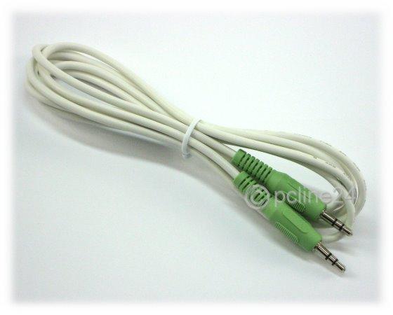 3,5 mm Klinkenstecker Audiokabel für Monitorlautsprecher weiß/beige NEU